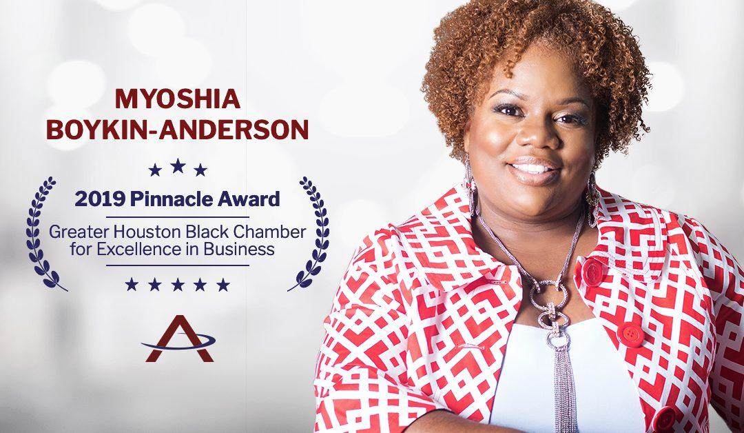 Myoshia Boykin Anderson Selected As Pinnacle Award Winner by GHBC